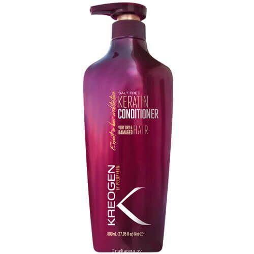 Бессолевой кератиновый кондиционер для нормальных и сухих волос Kreogen (Криоджен) 800 мл