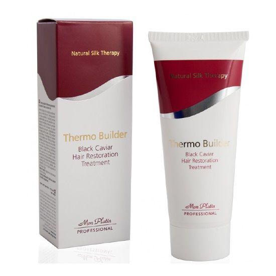 Средство для восстановительного ухода за волосами с добавкой черной икры Термо Билдер Mon Platin Professional (Мон Платин Профешнл) 200 мл