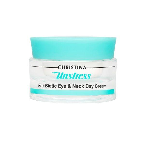 Дневной крем с пробиотическим действием для кожи вокруг глаз и шеи SPF 8 Unstress Christina (Анстресс Кристина) 30 мл
