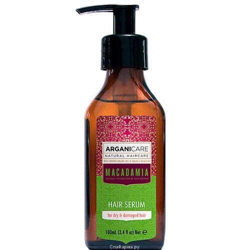 Сыворотка для сухих и поврежденных волос с маслом Макадамии ArganiCare (АрганиКеа) 100 мл